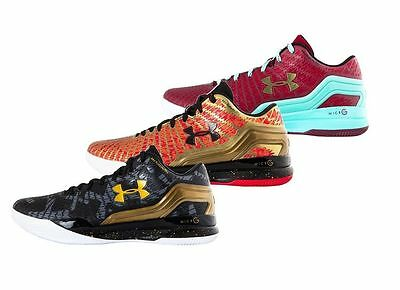 Under Armour Clutchfit Drive Low Emmanuel Mudiay Pe Curry One Gold Black Red