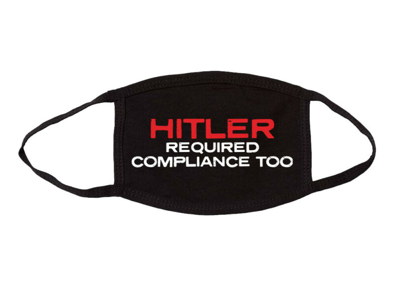 USA Made Hitler Required Compliance Too Cloth Face Covering Mask