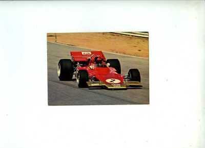 Emerson Fittipaldi Gold Leaf Team Lotus 72 1971 Vintage Postcard