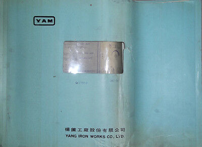 Yam Yang Iron Works Cnc-5a With Fanuc 6mb Electrical Drawings Manual