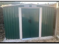 Metal Garden Shed 10x8ft brand New sealed in box including base and delivery
