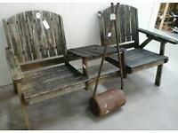 Garden double bench / chairs. ABC Row 5