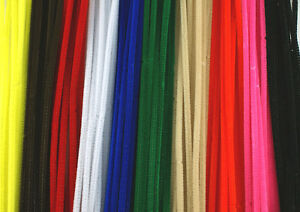 12-30cm-Chenille-Craft-Stems-Pipe-Cleaners-Choice-of-Colours-and-Pack-Size