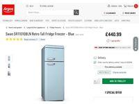 Brand new Retro Fridge Freezer in Blue - £440 in Argos