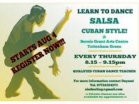 Cuban Salsa classes At Bernie Grand Arts Centre. Seven Sisters.