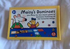 MAISY'S DOMINOES CHIPBOARD PIECES FEATURING ALL HER FAVOURITE THINGS. COMPLETE AND VGC.