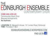 The Edinburgh Ensemble Choir - meeting Thursdays 7-9pm