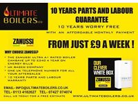 Combi or System boiler 10 years warranty 30kw 35kw zanussi ideal baxi worcester bosch