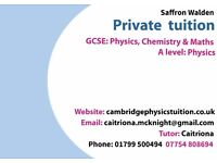 Home/online Physics, Chemistry and Maths (GCSE) & Physics(A-level)