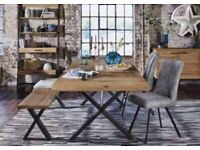 Dinning table and bench including seating pad from Furniture Village