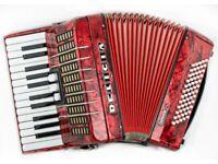Delicia Junior IV - 26 Keys / 60 Bass - 2 Voice - Red Pearl Piano Accordion