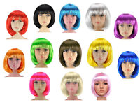New Bob Cut Fancy Dress Hair Wig Stag Do Party Costume Cosplay Novelty Wigs All Colours Available