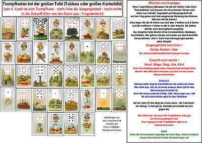 Lenormand Aufbaukurs 1, 2 und 3 - FARBDRUCKE - Zertifikat möglich - Kartenlegen
