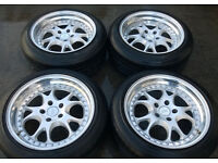 RH ZW3 Alloys wheels & Tyres * Staggered BMW AUDI VW SEAT MERCEDES 5x112 5x120
