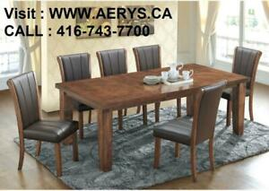 WHOLESALE FURNITURE WAREHOUSE LOWEST PRICE GUARANTEED WWW.AERYS.CA dinette set starts from $229 , call  416-743-7700