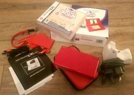 Red DS Lite - boxed with game and accessories