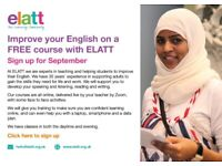 FREE ESOL / Functional English / Life Skills course. Classes taught online on Zoom