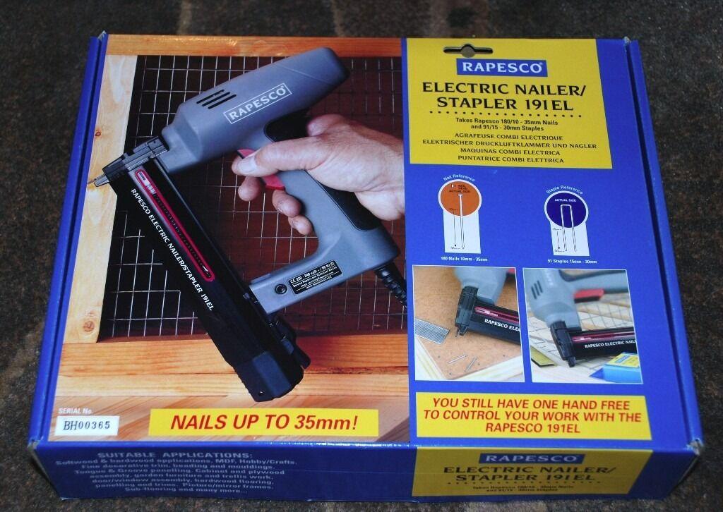 Rapesco Electric Nailer Stapler 191el New In Bromham