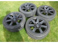 "Genuine BMW 8J 17"" Alloy Wheels matched set Bridgestone Potenza 225/45r17 Tyres with good tred"