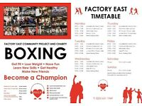 CHARITY BOXING GYM - FACTORY EAST - JOIN US