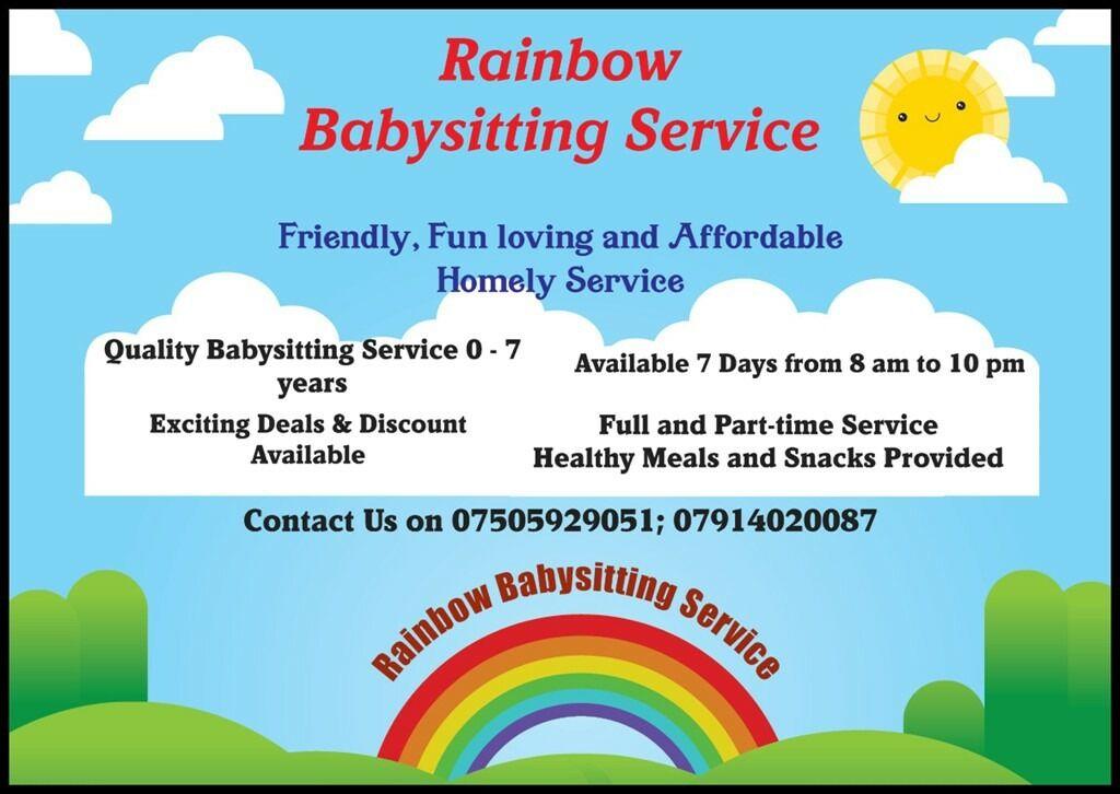 Rainbow Babysitting Service | in Forfar, Angus | Gumtree