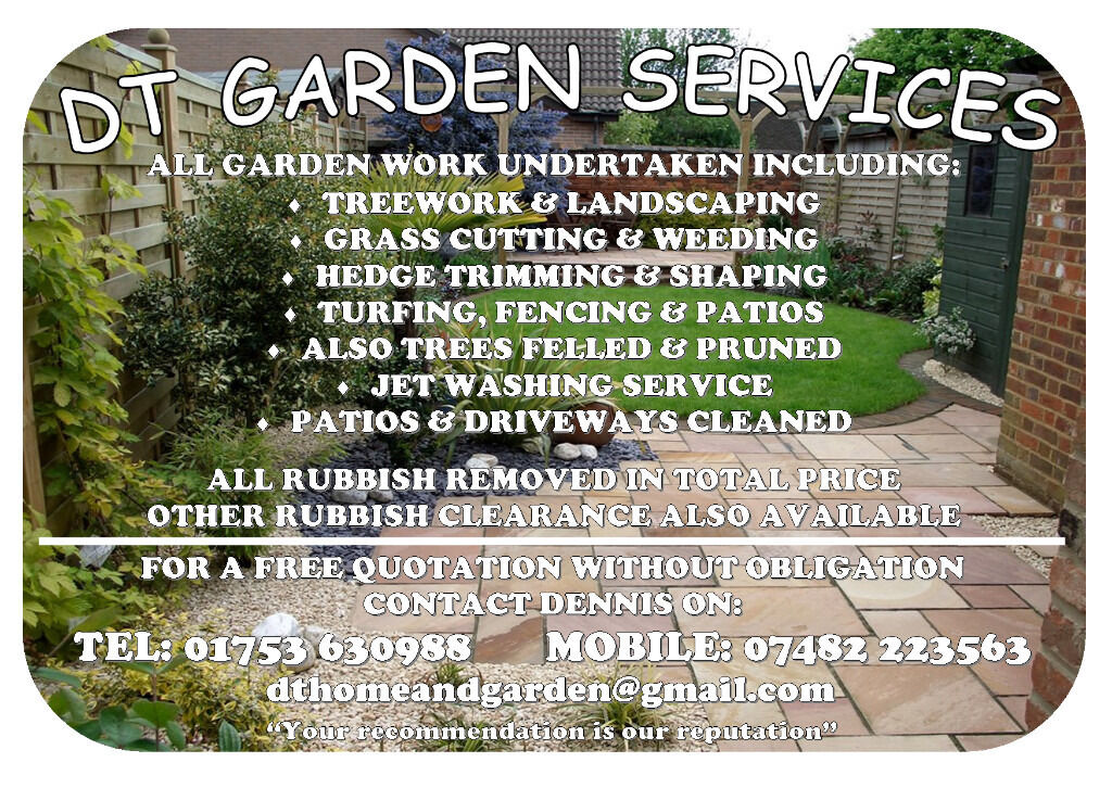 Dt garden maintenance services 25 years experience for Cleaning and gardening services