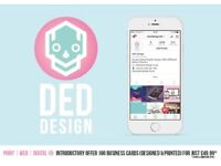 looking for a Logo, Business Cards, Branding, Catalogues, Van Wraps, Websites..? DED Design