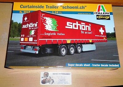 Curtainside Trailer schoeni.ch in 1:24 von Italeri 3918 Neu