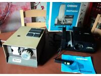 Slide Projectors x 2 (All working) Chinon with remote + looks unused / Halinamat + free screen