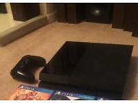 Playstation 4 PS4 (500gb) with 5 games