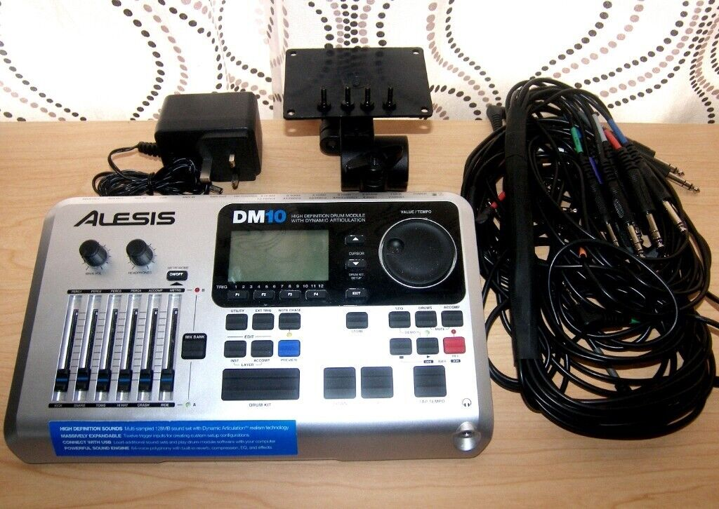Alesis DM10 , DM 10 High Definition Drum Module for Electronic Drum Kit +  Stand , Holder , Cables  | in Bristol | Gumtree