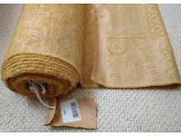 NEW Gold Chenille Velvet Curtain Fabric:9.5 Metre & 6 Piece Matching Cushion Set/Tassels: Furnishing