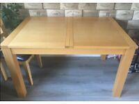 Oak Veneer Extending Table 130-160cm FREE DELIVERY 4061