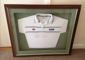 Pat Cash Wimbledon Lawn Tennis Champion, signed shirt, framed and mounted