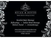 Relax & Revive mobile Holistic Therapy