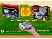 Brand New SNES Mini with extra games and NES Mini Dual Boot system