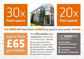 Amazing, Affordable co working space in Chiswick - The Workary - 24/7 access from £65pm