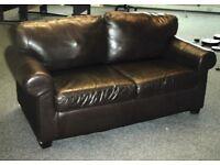 Ikea leather - look Sofa for sale