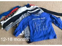 Baby long sleeved tops 12-18 months