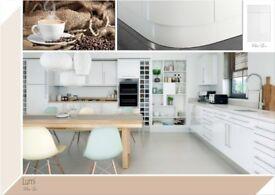 Stylish White Gloss Kitchen £1195
