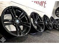 "GENUINE 19"" BMW M4 ALLOY WHEELS AVAILABLE WITH TYRES - 5 x 120 - CRYSTAL BLACK FINISH"