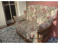 Beautiful condition Ercol settee and two chairs