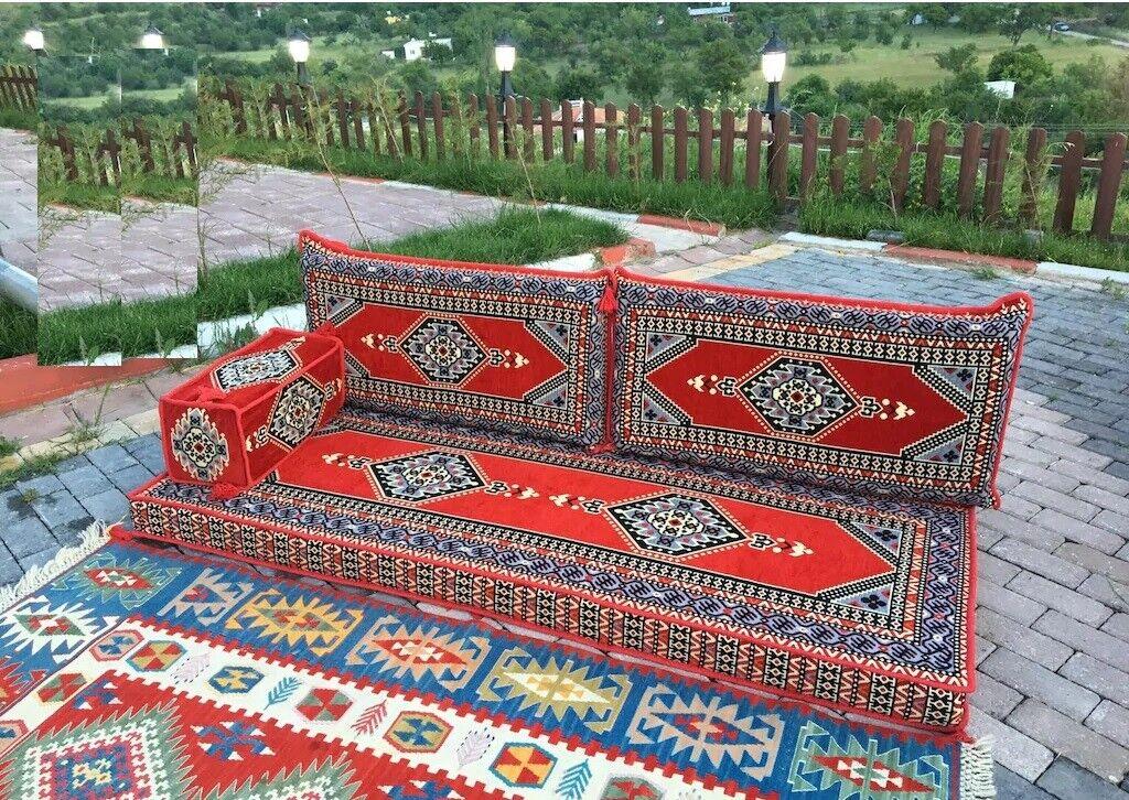 4 pcs Turkish Ottoman Cushion pillows Lounge Couch Sofa Corner Cover Set Palace 5