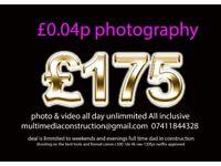 £0.04p videographer photo video editor editing unlimited photographer photography videography