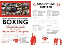 CHARITY BOXING GYM EAST LONDON