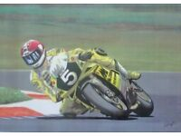 2 British motor biking legends in their own right and 2 unique colour prints