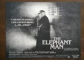 the elephant man ' ( john hurt ) original cinema poster
