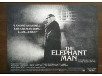 the elephant man ' ( john hurt ) original cinema poster