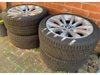 "17"" BMW Alloy Wheels Full Set with Tyres"