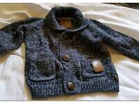 Boys autograph marks and Spencer's cardigan 6-9 month